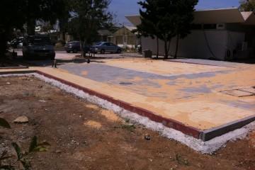 פיתוח אתר וריצוף באבן משתלבת וטבעית. משרד החקלאות, בית דגן